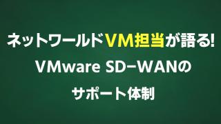 ネットワールドVM担当が語る!VMware SD-WANのサポート体制